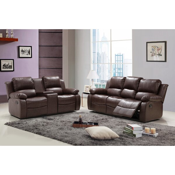 Phoenix Reclining 2 Piece Leather Living Room Set by Living In Style