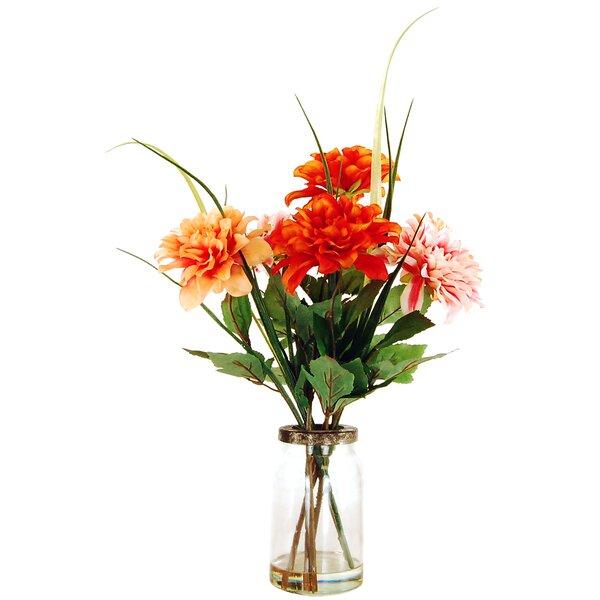 Dahlias Floral Arrangement in a Mason Jar by LCG Florals
