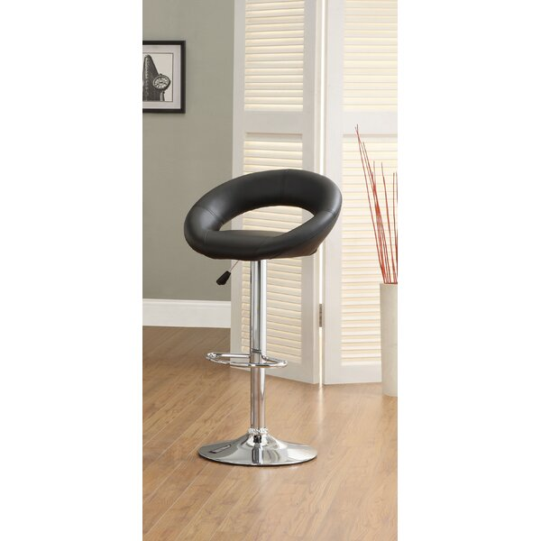 Theory Swivel Upholstered Adjustable Height Bar Stool (Set Of 2) By Hokku Designs