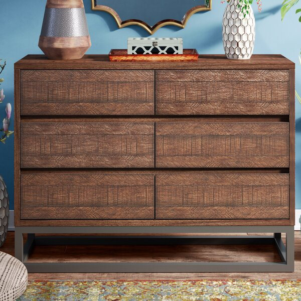 Cope 6 Drawer Double Dresser by Bungalow Rose