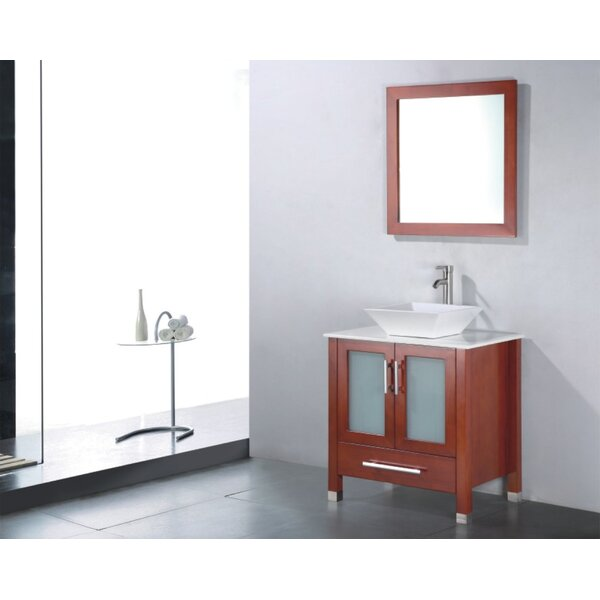 Adrian 36 Single Bathroom Vanity Set with Mirror by Adornus