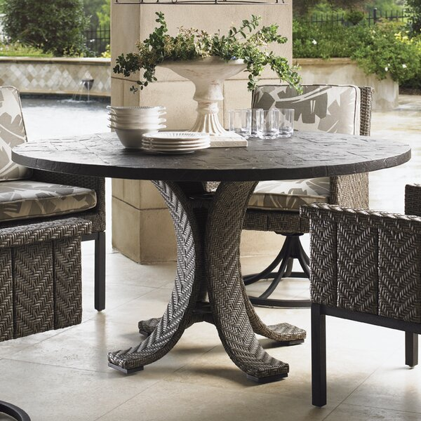 Del Mar Stone/Concrete Dining Table by Tommy Bahama Outdoor