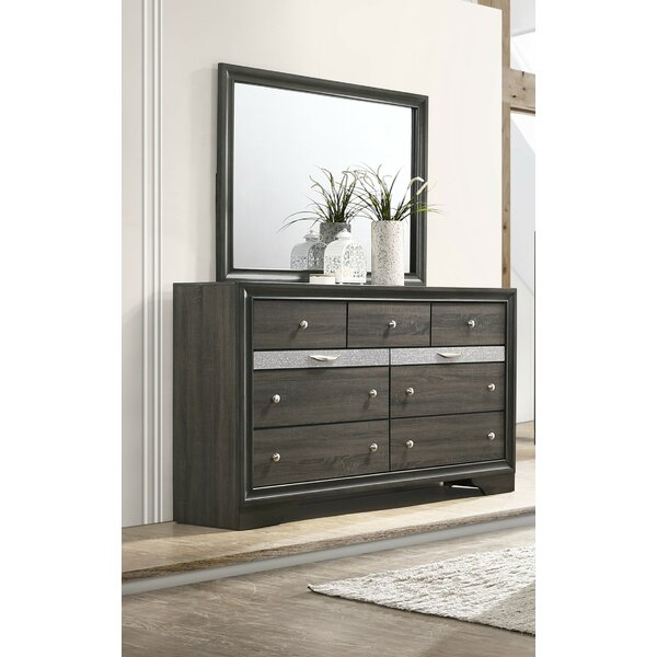 Blanding 9 Drawer Standard Dresser with Mirror by Brayden Studio
