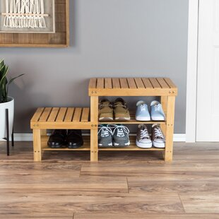 2-Tier Bamboo 6 Pair Shoe Rack by Rebrilliant