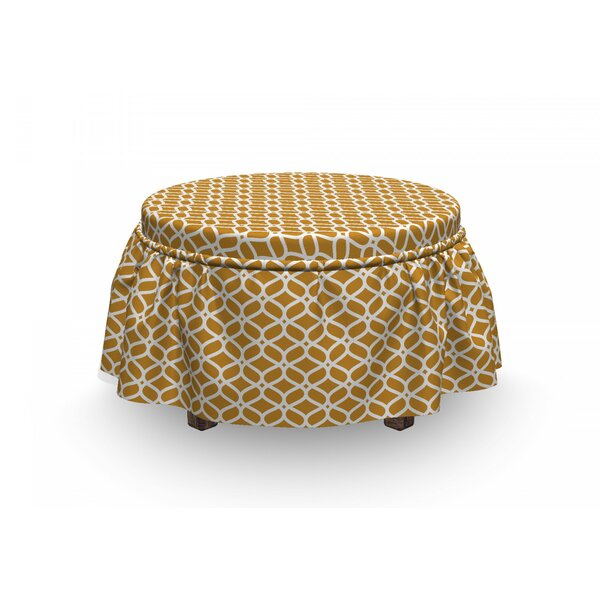 Crochet Lace Look Ottoman Slipcover (Set Of 2) By East Urban Home