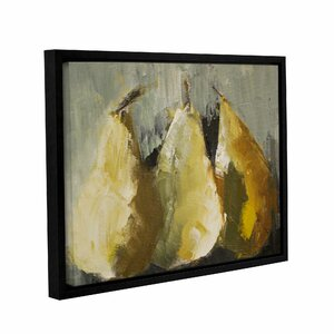 'Modern Pears' by Michelle Rivera Framed Painting Print on Wrapped Canvas by ArtWall