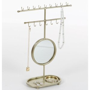 Golden Gleaming Mirror Jewelry Holder by Zipcode Design