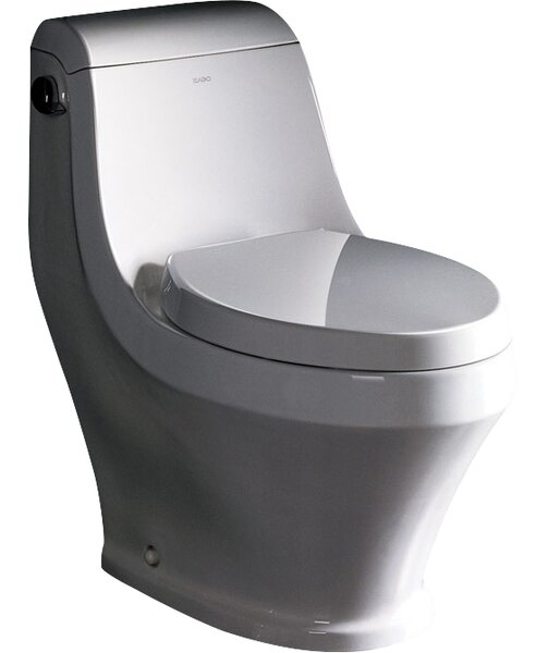 Volna Contemporary 1.6 GPF Elongated Toilet by Fresca