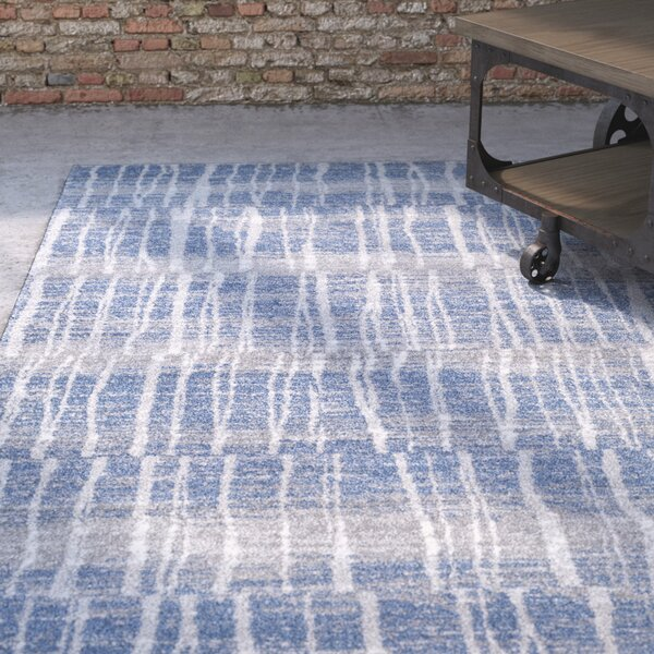 Kalyn Bright Blue/Medium Gray Area Rug by Williston Forge