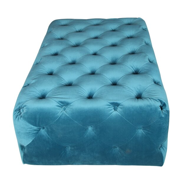 Clifford Tufted Ottoman by Rosdorf Park