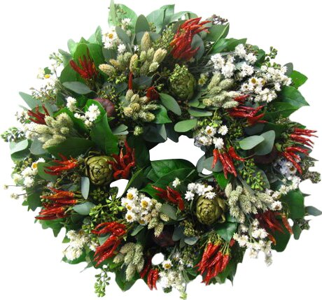 18 Herb Wreath by From the Garden