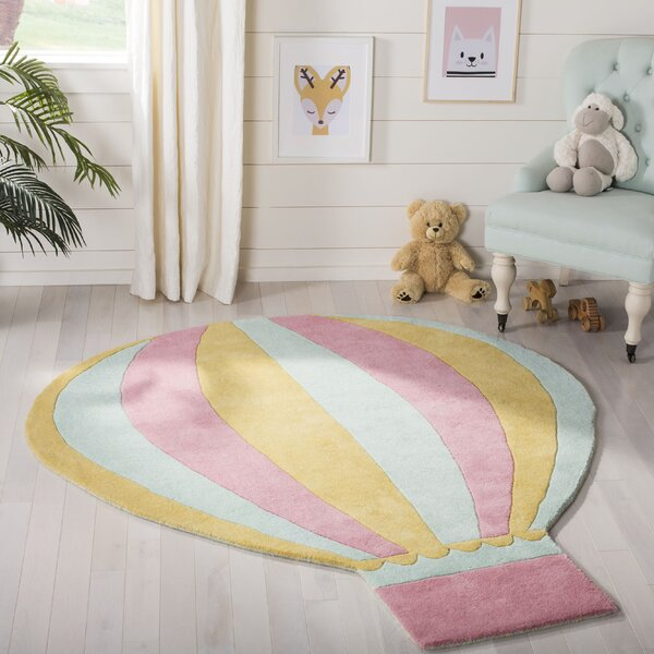 Hot Air Balloon Hand-Tufted Peony Area Rug by Martha Stewart Rugs
