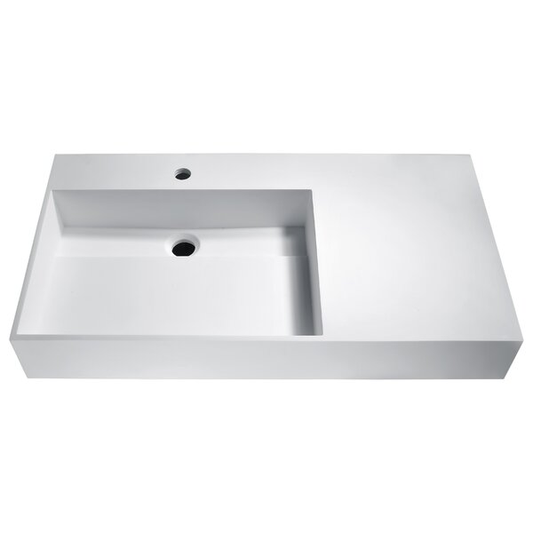 Urena Plastic Rectangular Vessel Bathroom Sink by ANZZI