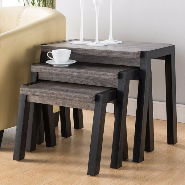 Busse Modern 3 Piece Nesting Tables by Foundry Select