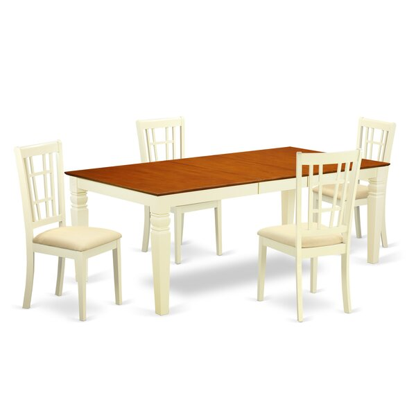 Beesley 5 Piece Buttermilk/Cherry Dining Set by Darby Home Co
