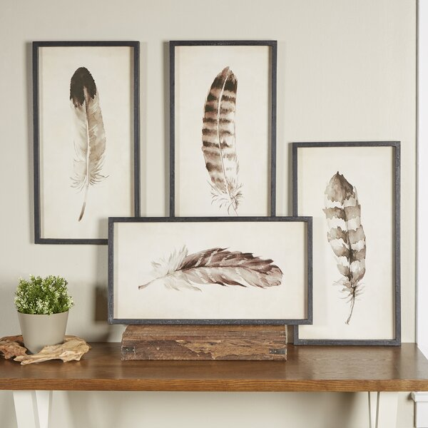 Watercolor Feather Framed Prints Amp Reviews Birch Lane