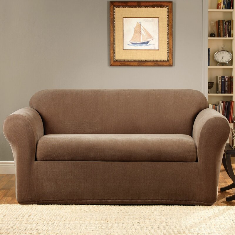 Sure Fit Stretch Metro Box Cushion Sofa Slipcover