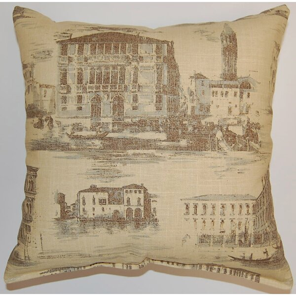 Grand Canal Cotton Throw Pillow by Creative Home