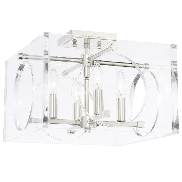 Tabarez 4 - Light Shaded Square / Rectangle Chandelier By Mercer41