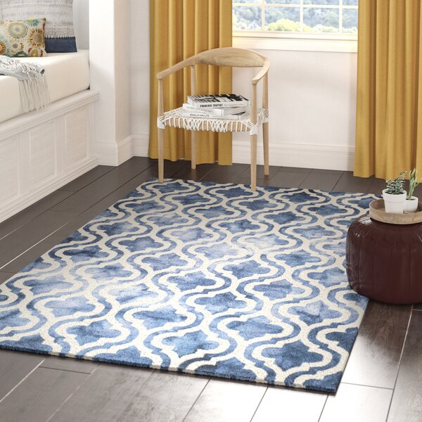 Bettina Hand-Tufted Wool Navy Area Rug by Willa Arlo Interiors