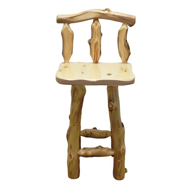 Aspen Grizzly 24'' Barstool by Mountain Woods Furniture