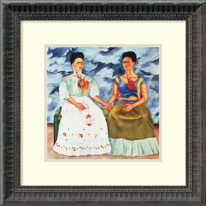 'The Two Fridas, 1939' by Frida Kahlo Framed Painting Print by Amanti Art
