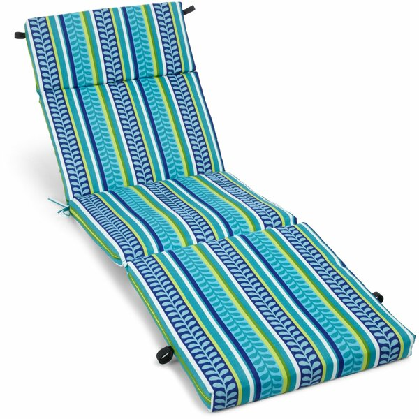 Pike Indoor/Outdoor Chaise Lounge Cushion by Blazing Needles