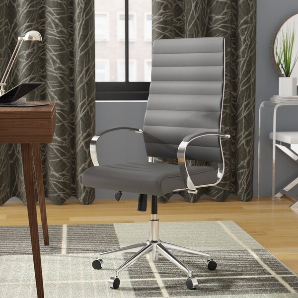 Clovis High-Back Desk Chair by Orren Ellis