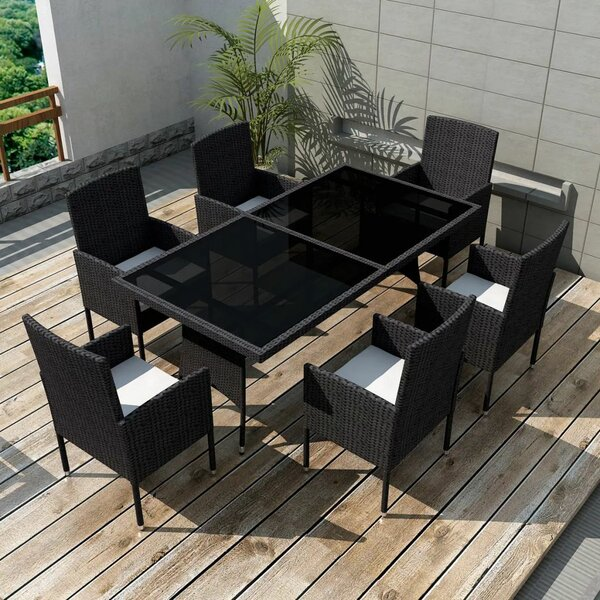 Marion 7 Piece Dining Set with Cushions by Brayden Studio