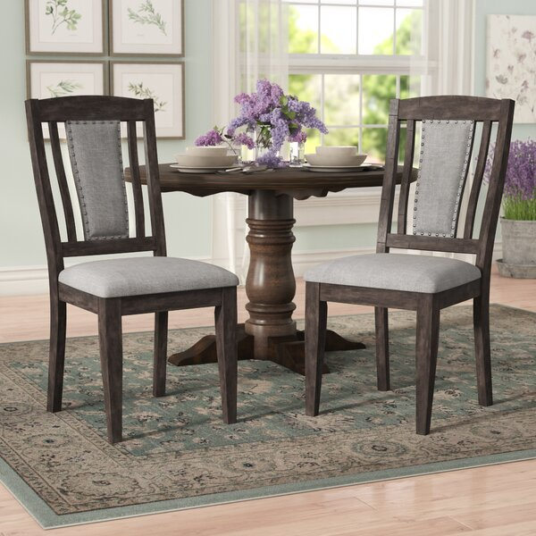 Suzann Upholstered Dining Chair (Set of 2) by Laurel Foundry Modern Farmhouse Laurel Foundry Modern Farmhouse
