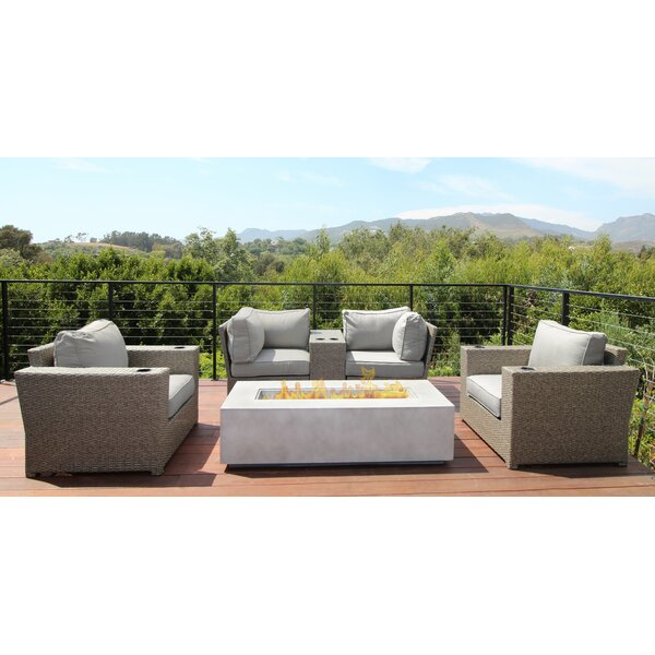 Almyra 6 Piece Sectional Seating Group with Cushions by Sol 72 Outdoor