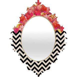 East Urban Home Chevron Flora 1 Baroque Accent Mirror