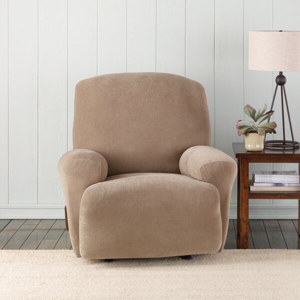 Stretch Pixel T-Cushion Recliner Slipcover by Sure Fit