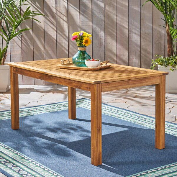 Imani Outdoor Extendable Wooden Dining Table by Millwood Pines