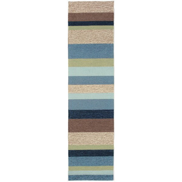 Derby Stripe Denim Indoor/Outdoor Rug by Ebern Designs