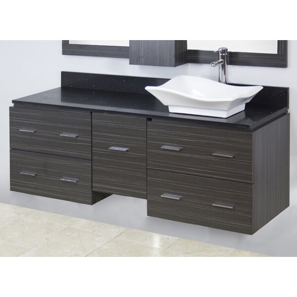 60 Single Modern Wall Mount Bathroom Vanity Set by American Imaginations