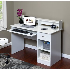 essential computer desk with pullout keyboard - Compact Computer Desk
