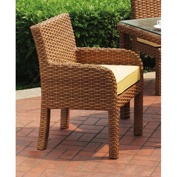 Java Dining Arm Chair with Cushion by South Sea Rattan