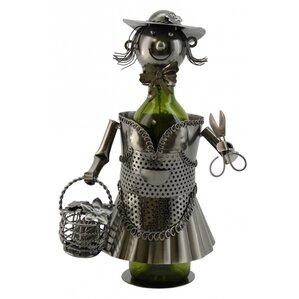 Lady Gardener 1 Bottle Tabletop Wine Rack by Three Star Im/Ex Inc.
