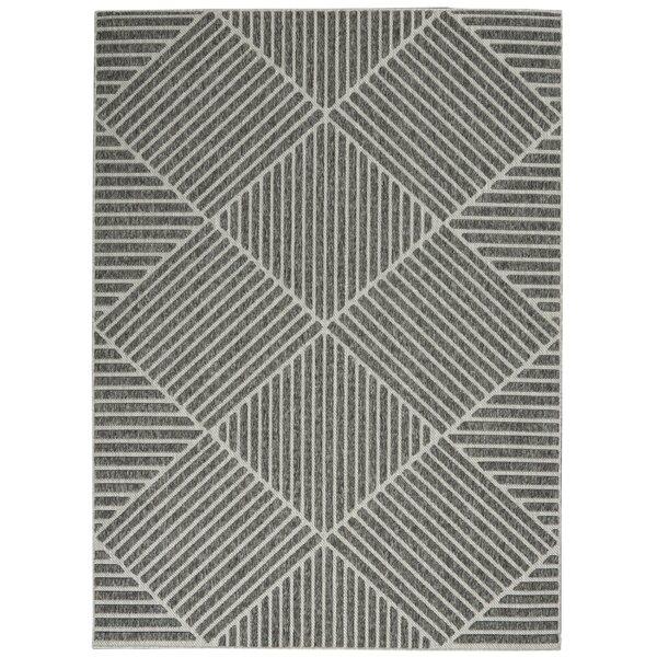 Moret Power Loom Gray Indoor/Outdoor Use Rug