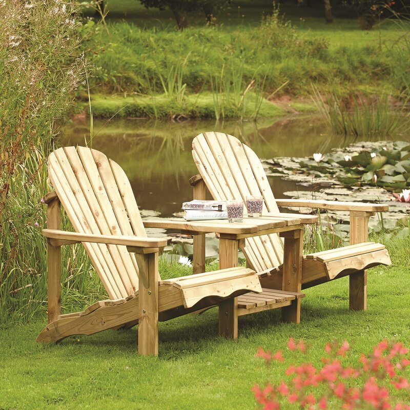 Garden Furniture Love Seat lynton garden buckeye 2 seater wooden love seat & reviews