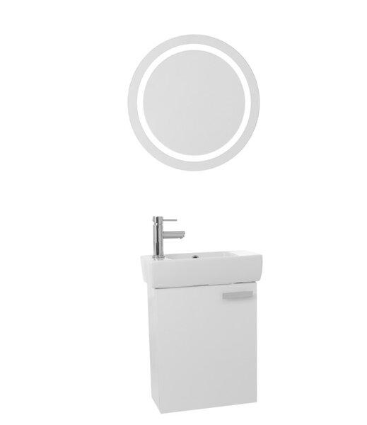 Cubical 19 Single Bathroom Vanity Set with Mirror by Nameeks Vanities