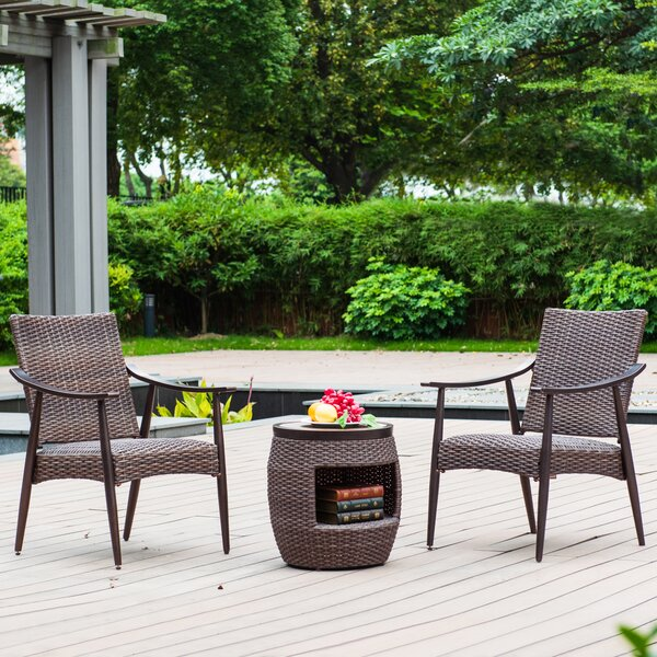 Healey 3 Piece Rattan Seating Group by World Menagerie