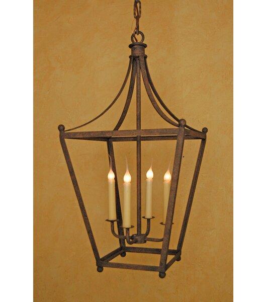 Menachem 4 - Light Lantern Geometric Chandelier By Astoria Grand