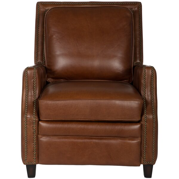 Bischof Leather Recliner by Darby Home Co