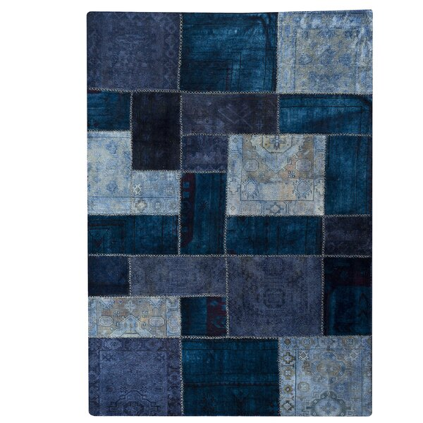 Renaissance Hand-Knotted Blue Area Rug by Hokku Designs