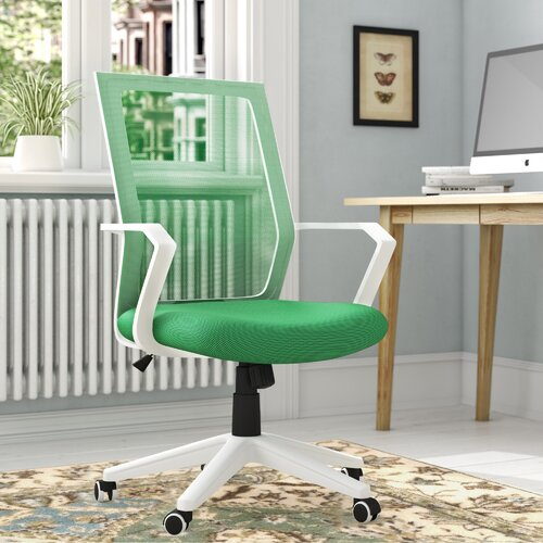 Relief Mesh Office Chair Hashtag Home Colour (Upholstery): Green