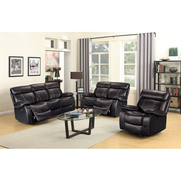Alvia Reclining 3 Piece Living Room Set by Living In Style