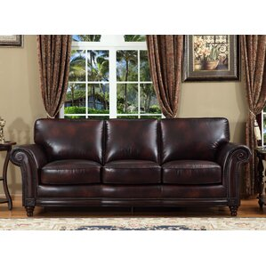Cranberry Leather Sofa Wayfair