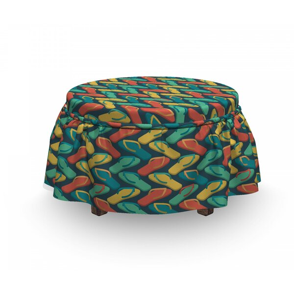 Zigzag Slipper Ottoman Slipcover (Set Of 2) By East Urban Home